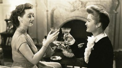 Bette Davis Toasting with Wine