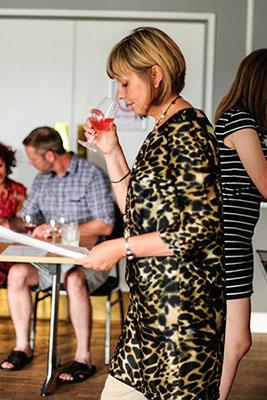 Janet Snorting Wine