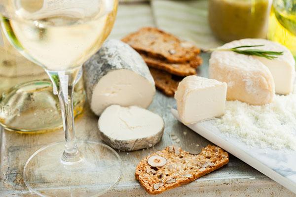 White Wine and Cheeses